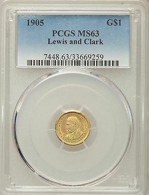 1905 Lewis and Clark Commemorative Gold PCGS MS 63