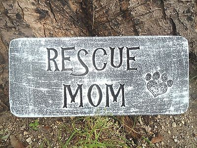 """Rescue mom dog Mold mould 11"""" x 5"""" x .75"""" see 5000 more molds in my ebay store"""