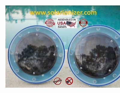2 -Solar Pool Ionizer -Assembled & tested in USA -Guaranty to work & Maint. FREE