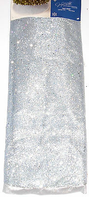 Christmas Tree Skirt 52 inches Glimming Silver Jaclyn Smith, NWT
