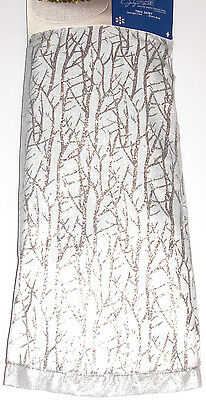 Christmas Tree Skirt 52 inches Jaclyn Smith, Silver, New w/Tag!