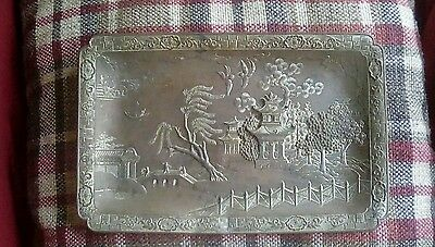 Chinese copper engraved dish