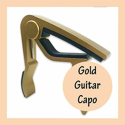 Gold Guitar Capo  Aluminum Spring Trigger Electric Acoustic Clamp Quick Release
