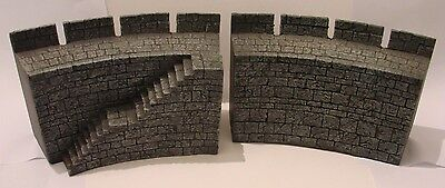 2x Helms Deep Fortress walls The Lord of the Rings Scenery Games Workshop
