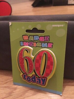 60th Birthday Badge New