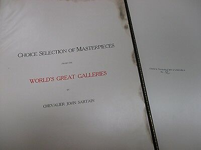 2 VOLUMES ANTIQUE HC BOOKS PHOTOGRAVURES by CHVELIER JOHN SARTAIN, #2 of 25