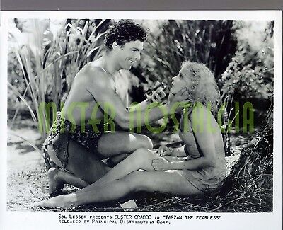 VINTAGE PHOTO 1933 Tarzan The Fearless Buster Crabbe, Julie Bishop