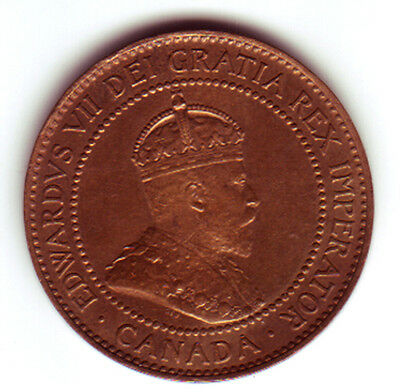 Large Cent 1908 From Canada