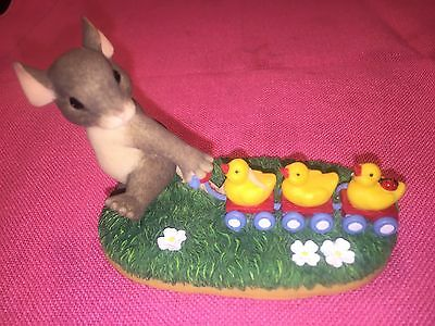 """ Keep All Your Ducks In A Row""  Charming Tails Figurine by Fitz & Floyd"
