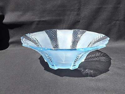 """Walther Blue Depression Glass """"athene"""" Bowl - Clearance Sale"""