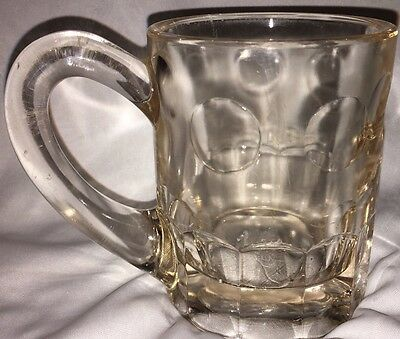 A&W Root Beer Antique Vintage Glass Heavy Mug 1920's