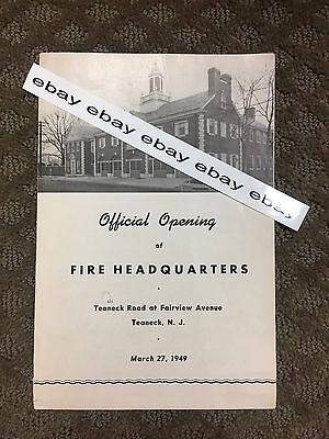Teaneck Fire Headquarters Official Opening Program 1949