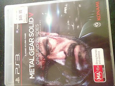 playstation 3 game ps3 metal gear solid V ground zeroes