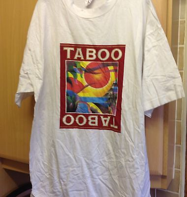 White TABOO Promotional  XL  Tshirt