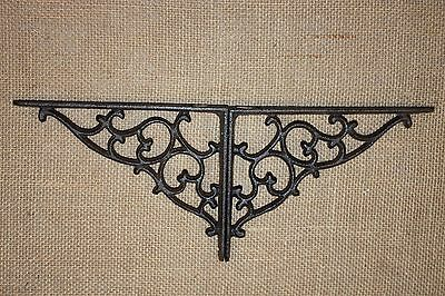 "(18)pcs, 7 1/8"" VICTORIAN DESIGN SHELF BRACKETS CORBELS, ELEGANT CAST IRON, B-1"
