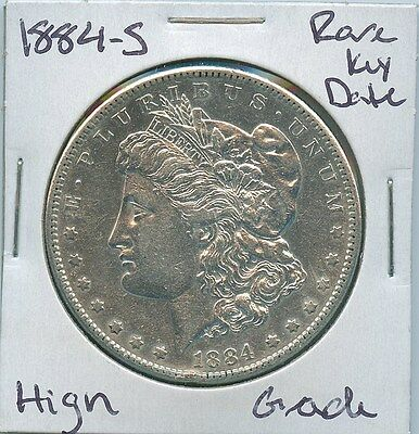 1884-S Morgan Dollar Rare Key Date US Mint Silver Coin High Grade