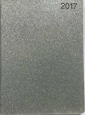 2017 Silver Sparkle  Pocket Diary  Week To View