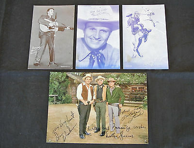 4 Vintage Arcade / Exhibit Cards ~ Elvis, Roy Rogers, Gene Autry, Bonanza
