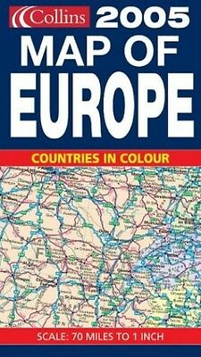 2005 Map of Europe, Not Known Sheet map, folded Book The Cheap Fast Free Post