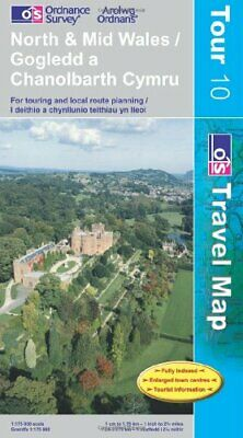 North and Mid Wales (OS Travel Series - ... by Ordnance Survey Sheet map, folded