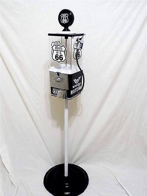 ROUTE 66  pump vintage gumball machine + stand man cave accessories