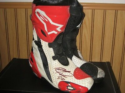 Eugene Laverty race worn autographed boots proof of authentic WSS