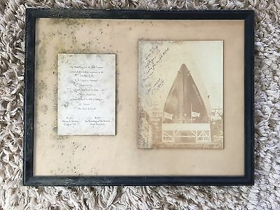 Rare Autographed Picture S.S American Astronaut Ship~ 1969