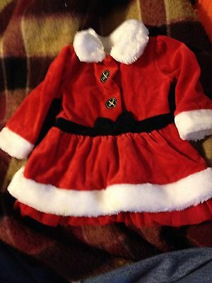 Baby Santa Dress 6 Months Girls Christmas Dress Baby Clothes Holiday Dress