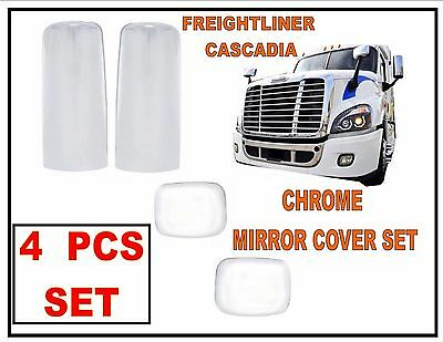 Freightliner Cascadia Chrome Mirror Covers (4 PCS Set) of Chrome Mirror Covers