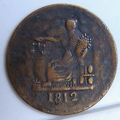 """1812 LC-48C2 Lower Canada Canadian Colonial """" Tiffin """" 1/2 Penny Token Br 961"""