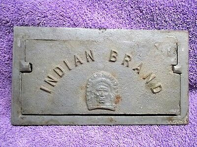 Vintage Cast Iron Vent Frame Cover Indian Brand C V Iron Works Cowanesque PA