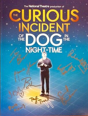 The Curious Incident Of The Dog In The Night-Time Broadway Cast Signed Program +