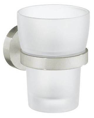 Holder with Frosted Glass Tumbler in Brushed Nickel Finish [ID 3488287]