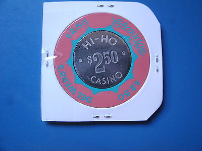 Rare $2.50 Casino Chip, Del Webb's Claridge Hi Ho Casino, Silver Coin Inlay