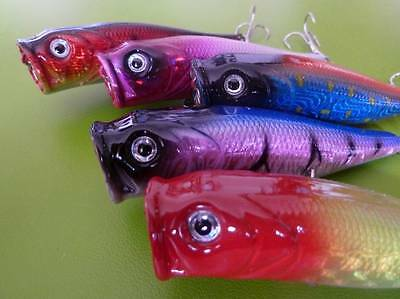 10x DFS 90mm 9cm POPPER POPPERS topwater fishing hardbody lure HOLOGRAPHIC