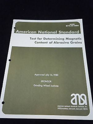American National Standard Test for  Determining Magnetic Content