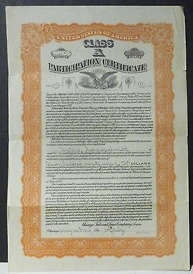Class A Participation Certificate 1914 Chicago Title & Trust Company (Stock)