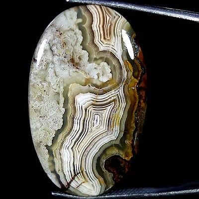 29.20Cts. 100% NATURAL CRAZY LACE AGATE OVAL CABOCHON AMAZING DESIGNER GEMSTONE