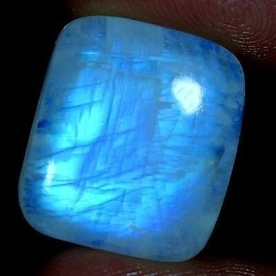 21.80Cts. 100% NATURAL EXCELLENT POWER RAINBOW MOONSTONE CUSHION CAB GEMSTONES