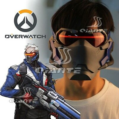OW Overwatch Soldier 76 Cosplay Mask Comic Con Cos Prop Halloween Great Gift