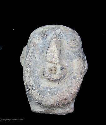 196) Ancient Pre Columbian Jamacoaque Pottery Fragment Head Figure Artifact