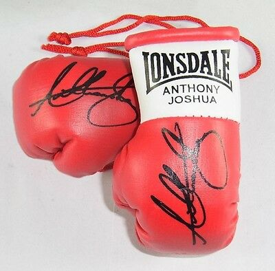 Anthony Joshua Autographed Mini Boxing gloves (collectable)