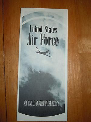 United States Air Force Silver Anniversary Museum Brochure 1972 Dayton OH Brochu