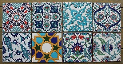 (20*20cm) Turkish Ceramic Tiles - Bathroom, Splashback, Kitchen - 15th C Designs