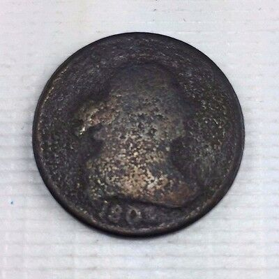 1803 1/2C BN Draped Bust Half Cent - Low Grade Early Half Cent Coin - 1111-227