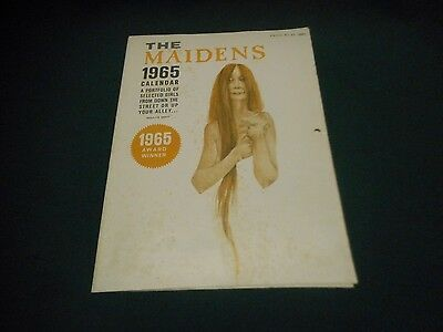 1965 THE MAIDENS Calendar ~ Adult Cartoon Humorous Nude PinUp ~ Enrol Publishing