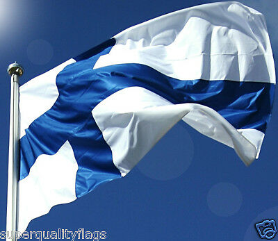 FINLAND FINNISH FLAG NEW 3x5 ft WITH BRASS GROMMETS