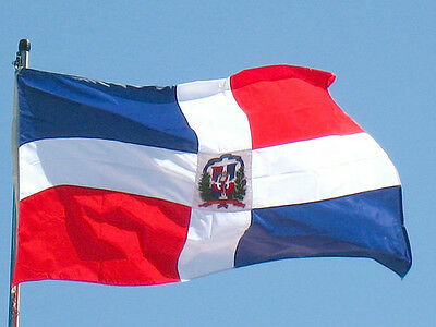 DOMINICAN REPUBLIC YARD FLAG BANNER NEW 3x5 ft