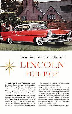 1957 Lincoln Magazine Advertisement