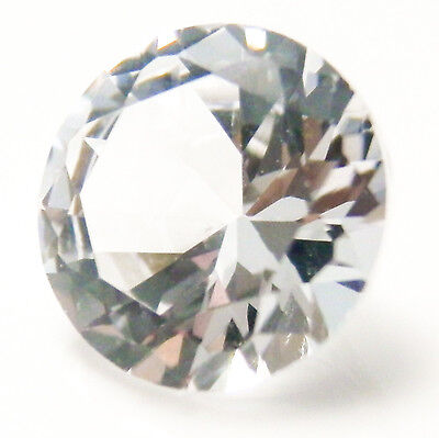 1.80Ct (7.5mm) Authentic WHITE SAPPHIRE My Russian Diamond Synthetic Loose Stone
